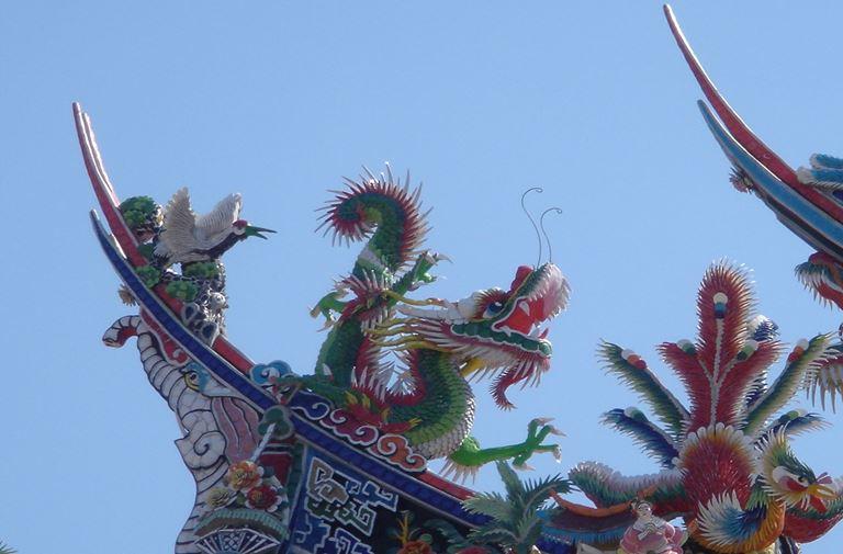 慈天宮欣賞廟宇的剪黏藝術