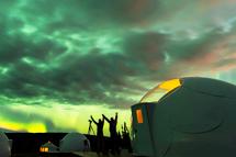 阿拉斯加【星球小屋】看極光