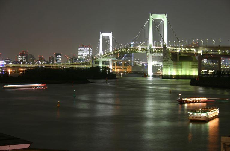台場彩虹橋夜景